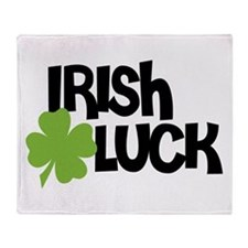 Irish Luck 4 Leaf Clover Throw Blanket