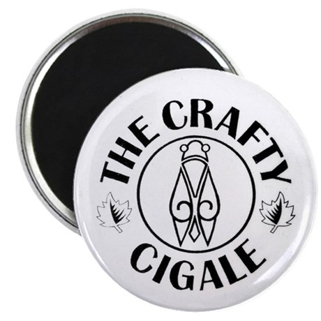 Crafty Cigale Logo uncropped Magnets