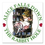 ALICE_DOWN THE RABBIT HOLE_GREEN.png Square Car Ma