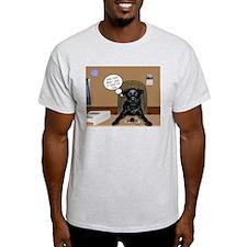 Black Labrador Computer Ash Grey T-Shirt