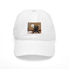 Black Labrador Computer Baseball Cap