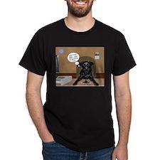 Black Labrador Computer T-Shirt