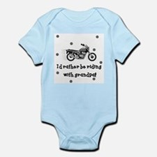 Rather be riding with Grandpa Baby Body Suit
