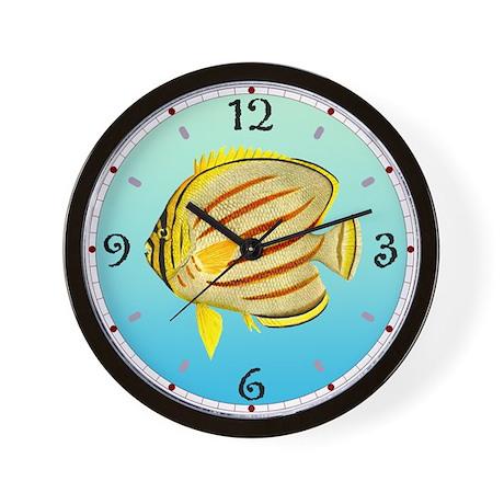 Clown Butterfly Fish Wall Clock