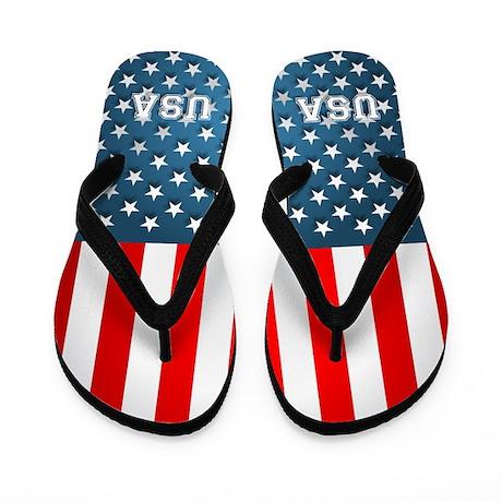 US Flag Flip Flops