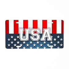 US Flag Aluminum License Plate