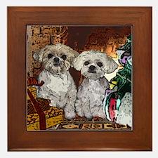 Shih Tzu Christmas MuggsMattie Framed Tile