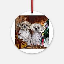 Shih Tzu Christmas MuggsMattie Ornament (Round)