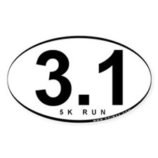 3.1 Run Rectangle Bumper Stickers
