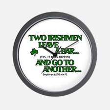 TWO IRISHMEN LEAVE A BAR.... Wall Clock
