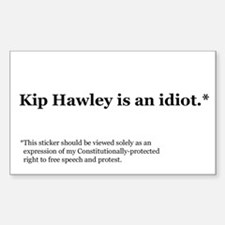 Kip Hawley Const Rectangle Decal