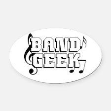 Band Geek Oval Car Magnet