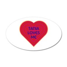 Tania Loves Me Wall Decal