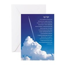 """High Flight"" 3 Greeting Card (Pkg. of 6)"
