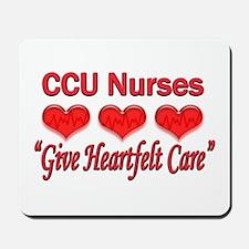 CCU Nurses - Heartfelt Care Mousepad