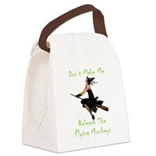Don't Make Me Release The Flying Canvas Lunch Bag
