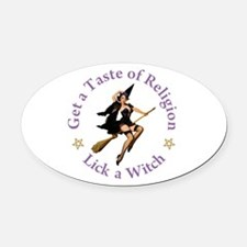 Get A Taste of Religion Oval Car Magnet