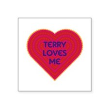 Terry Loves Me Sticker