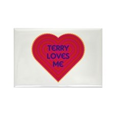 Terry Loves Me Rectangle Magnet (100 pack)