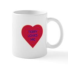 Terry Loves Me Small Mug