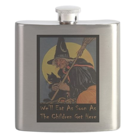 We'll Eat When the Kids Get Here Flask
