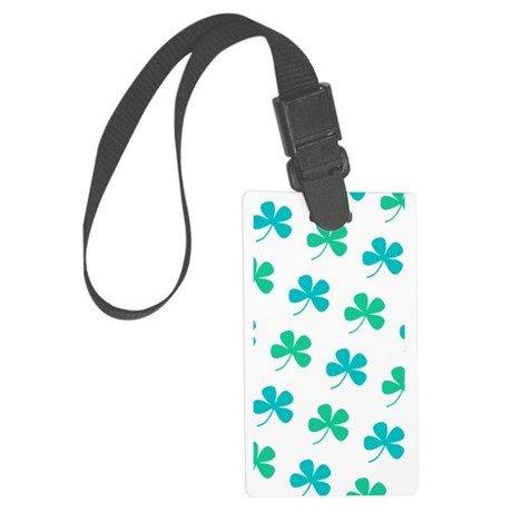 4 Leaf Clover St. Paddys Day Bagpipes Luggage Tag