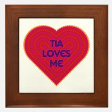 Tia Loves Me Framed Tile