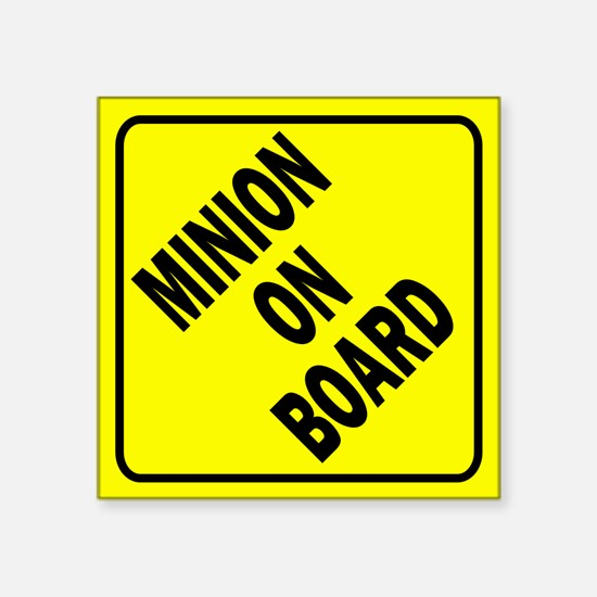 Minion on Board Car Sign Sticker