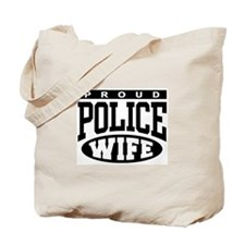 Proud Police Wife Tote Bag