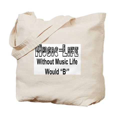 Music=Life Tote Bag