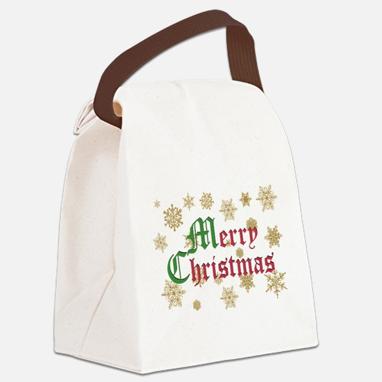 2-snowflakes_goldflakes copy.png Canvas Lunch Bag