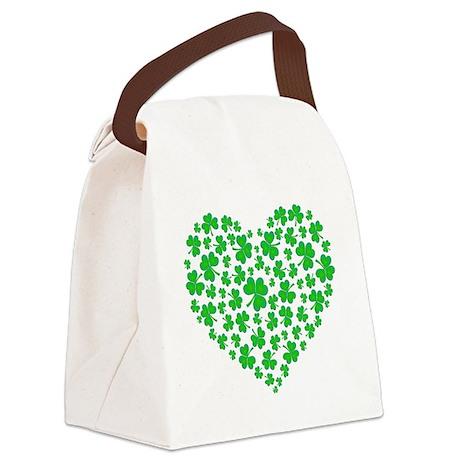 My Irish Heart Kelly SHAMROCKS copy.png Canvas Lun
