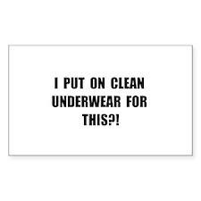 Clean Underwear Decal