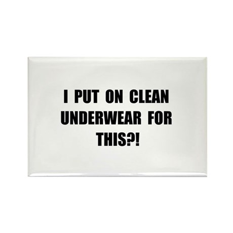 Clean Underwear Rectangle Magnet (100 pack)
