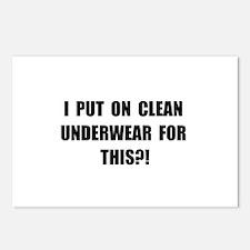 Clean Underwear Postcards (Package of 8)