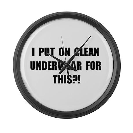 Clean Underwear Large Wall Clock