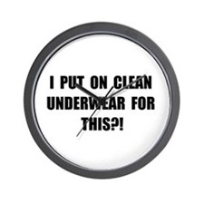 Clean Underwear Wall Clock