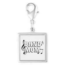 Band Mom Silver Square Charm