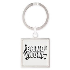 Band Mom Square Keychain