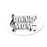 Band nerd Oval Car Magnets