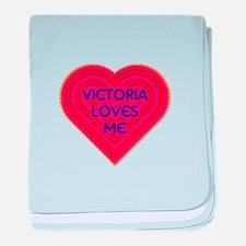 Victoria Loves Me baby blanket