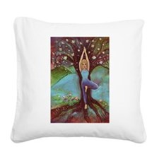 Yoga Balance-Tree POSE Square Canvas Pillow