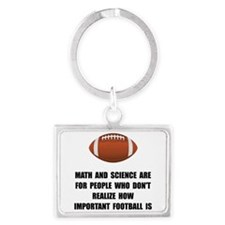 Football Important Landscape Keychain