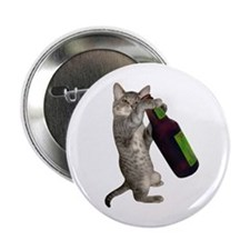 """Cat Beer 2.25"""" Button"""