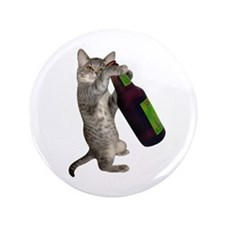 "Cat Beer 3.5"" Button"