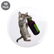 "Cat Beer 3.5"" Button (10 pack)"