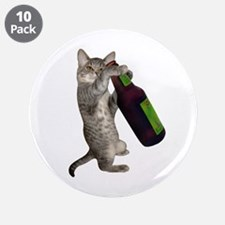 """Cat Beer 3.5"""" Button (10 pack)"""