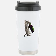 Cat Beer Stainless Steel Travel Mug