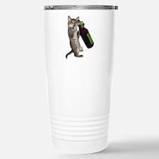 Cat Beer Travel Mug