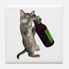 Cat Beer Tile Coaster